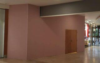 Temporary drywall installation